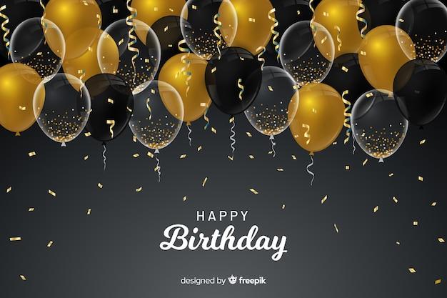 Sfondo di palloncini di compleanno Vettore gratuito