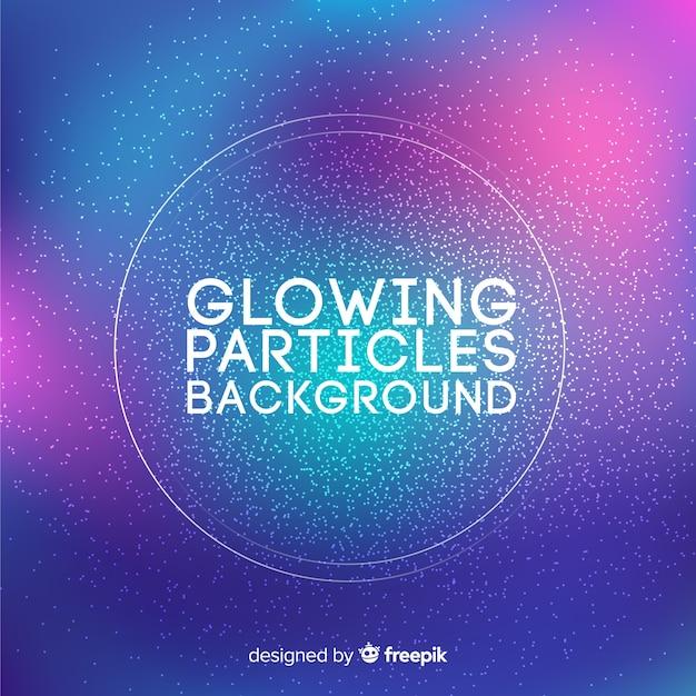 Sfondo di particelle incandescente Vettore gratuito