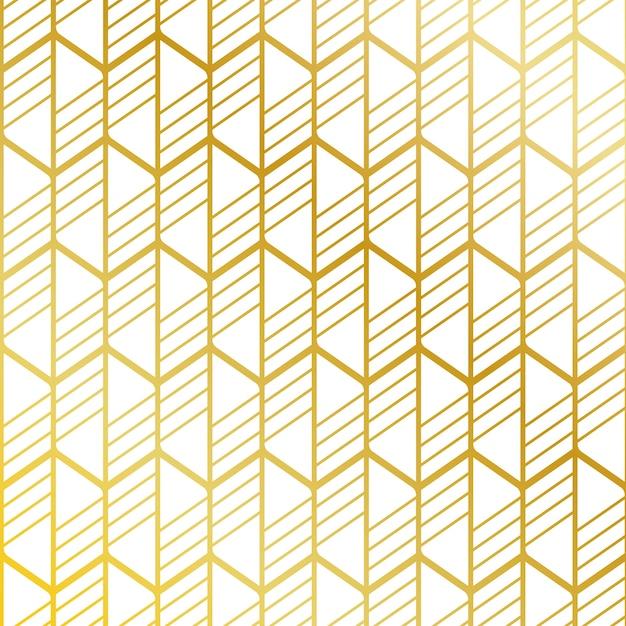 Sfondo di pattern di strisce dorate Vettore gratuito