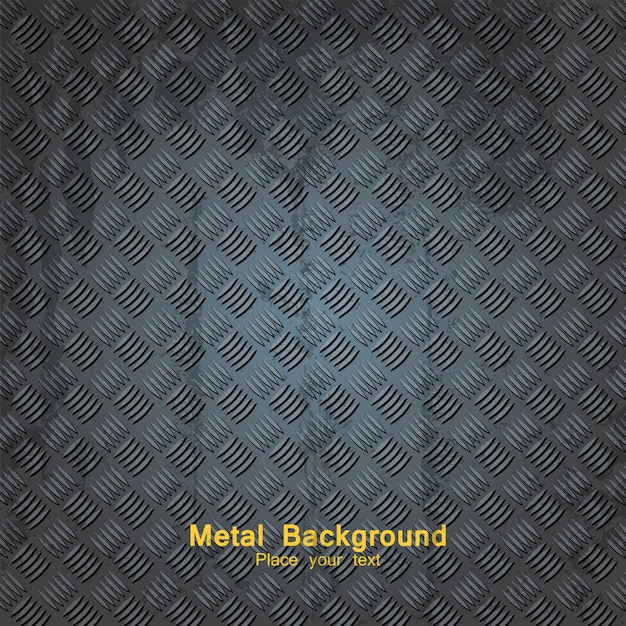 Sfondo di piastra metallica Vettore Premium