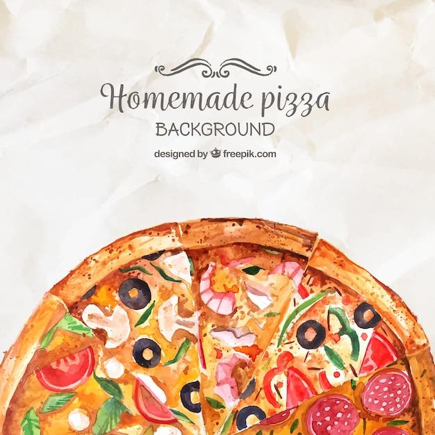 Sfondo Di Pizza Fatta In Casa Di Colore Dellacqua Scaricare