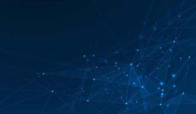 Sfondo di plesso di poligoni collegati Vettore Premium