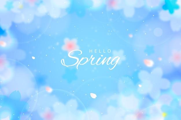 Sfondo di primavera in stile sfocato Vettore gratuito