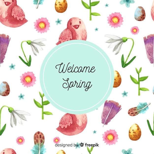 Sfondo di primavera Vettore gratuito