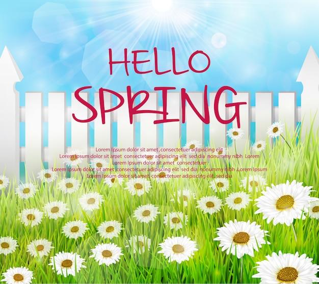 Sfondo di primavera Vettore Premium