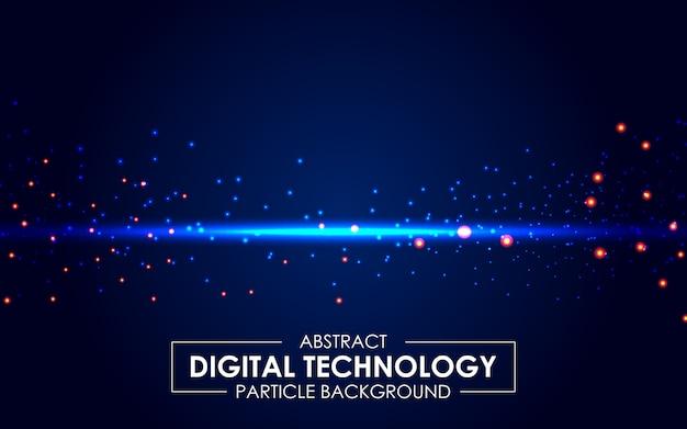Sfondo di raggi di luce astratta tecnologia digitale Vettore Premium