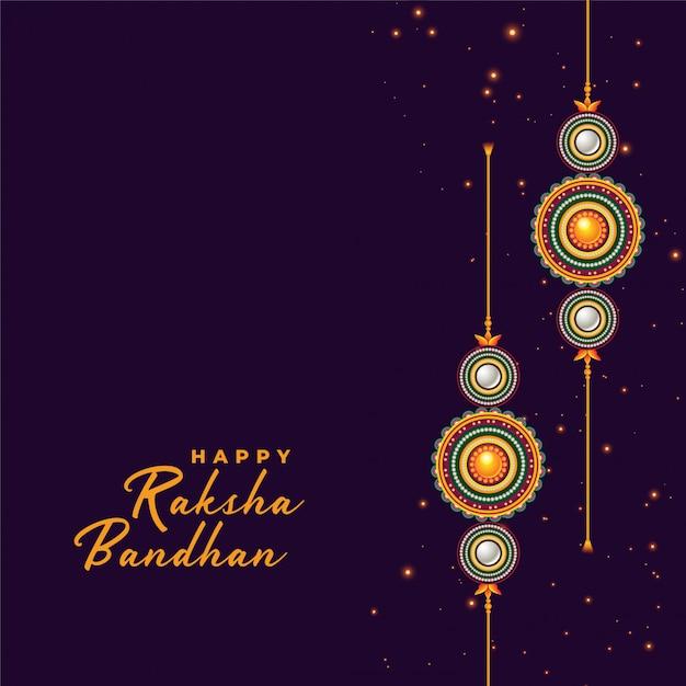Sfondo di rakhi per il festival raksha bandhan Vettore gratuito