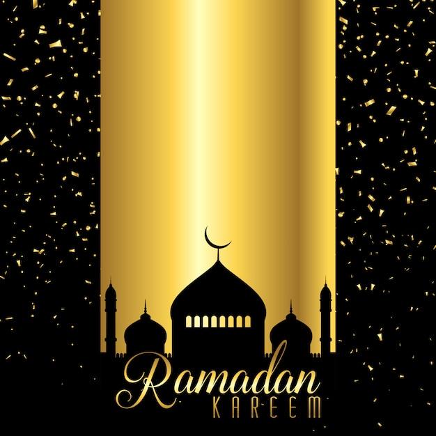 Sfondo di ramadan kareem Vettore gratuito