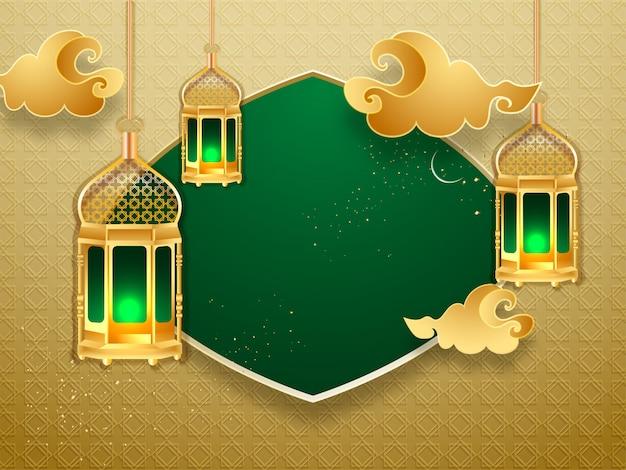 Sfondo di ramadan kareem. Vettore Premium