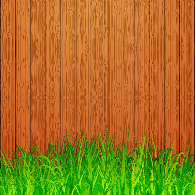 Sfondo di recinzione del giardino Vettore Premium