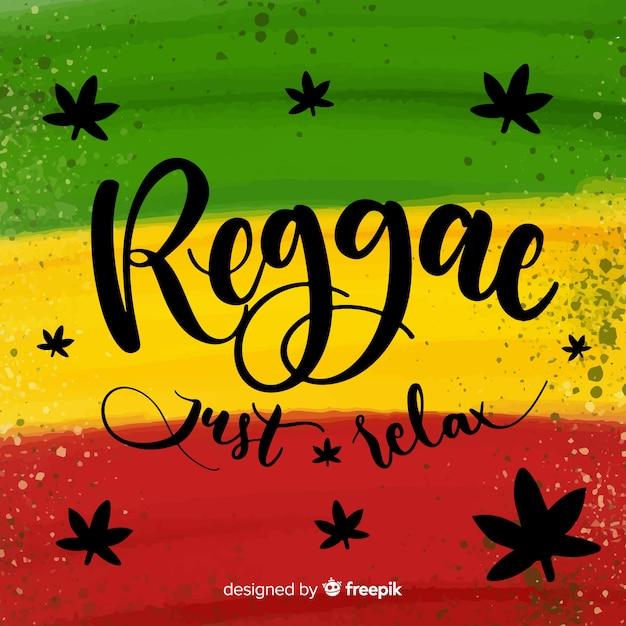 Sfondo di reggae di pennellate Vettore gratuito