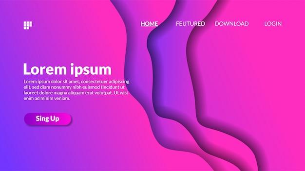 Sfondo di ritaglio di carta sfumatura moderna rosa viola Vettore Premium
