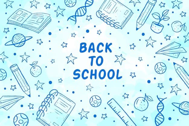 Sfondo di ritorno a scuola Vettore gratuito
