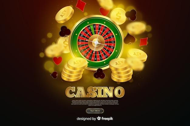 Sfondo di roulette del casinò realistico Vettore gratuito