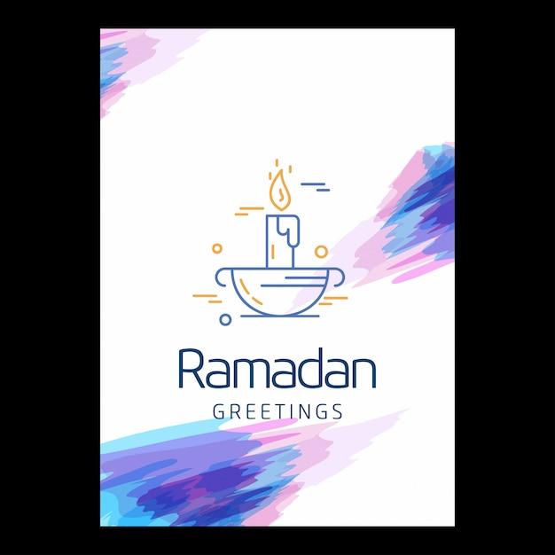 Sfondo di saluti di ramadan Vettore gratuito
