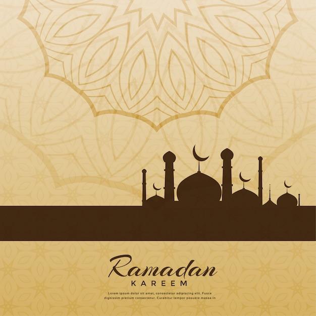 Sfondo di saluto festival creativo di ramadan kareem Vettore gratuito