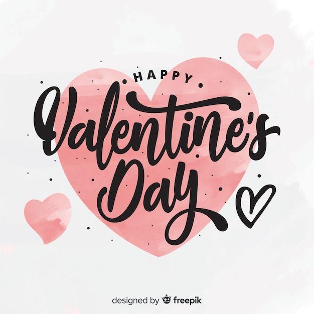 Sfondo di san valentino calligrafico Vettore gratuito