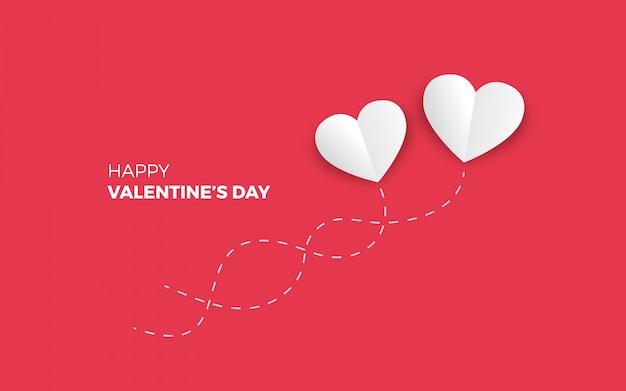 Sfondo di san valentino minimalista Vettore gratuito