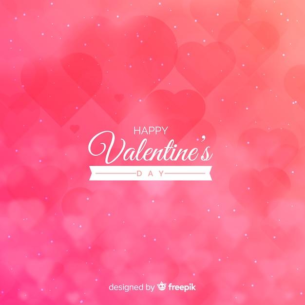 Sfondo di san valentino sfocato Vettore gratuito