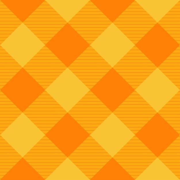 Sfondo di scacchiera giallo arancione diamante Vettore Premium