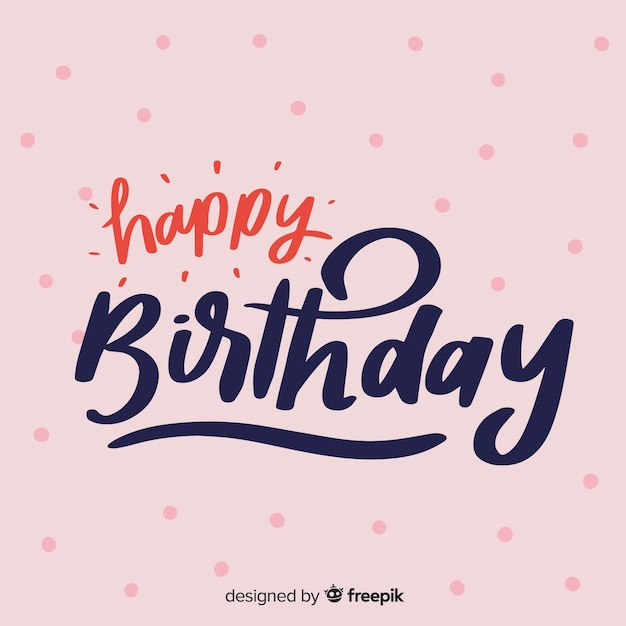 Sfondo di scritte creative di buon compleanno Vettore gratuito