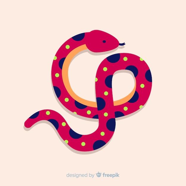 Sfondo di serpente punteggiato Vettore gratuito