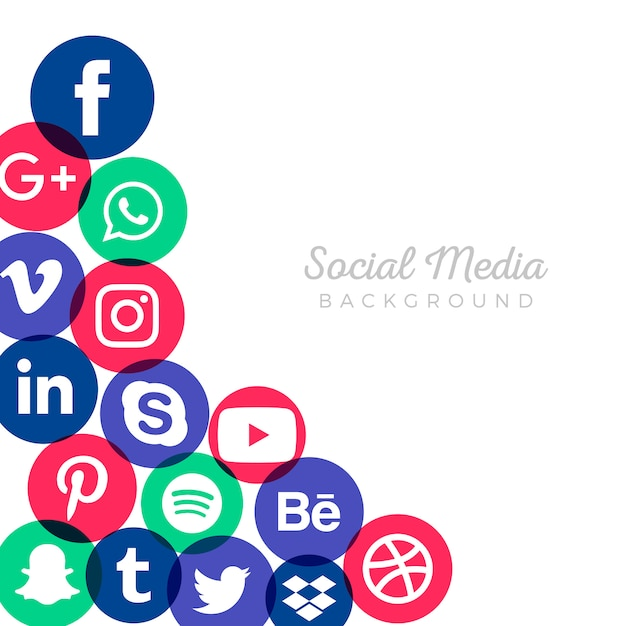 Sfondo di social media marketing Vettore gratuito