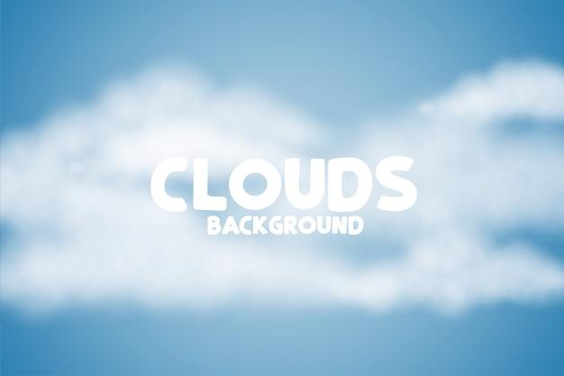 Sfondo di soffici nuvole su skye blu Vettore gratuito