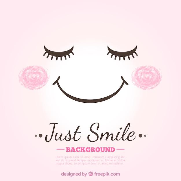 Sfondo di sorriso carino Vettore gratuito