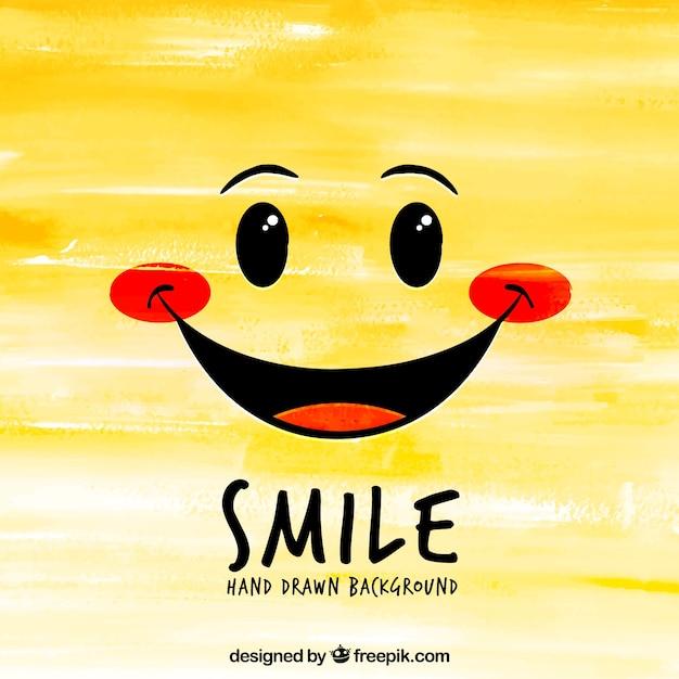 Sfondo di sorriso disegnato a mano Vettore gratuito