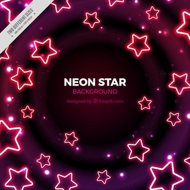 Sfondo di stelle al neon Vettore gratuito
