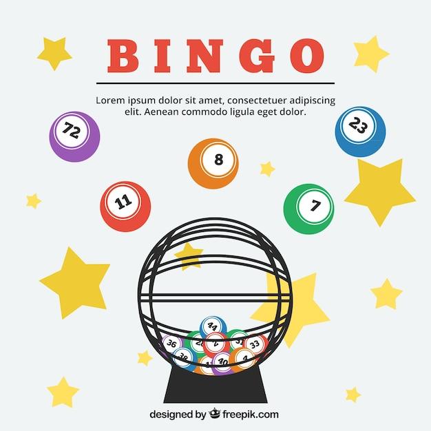 Sfondo di stelle e sfere di bingo Vettore gratuito