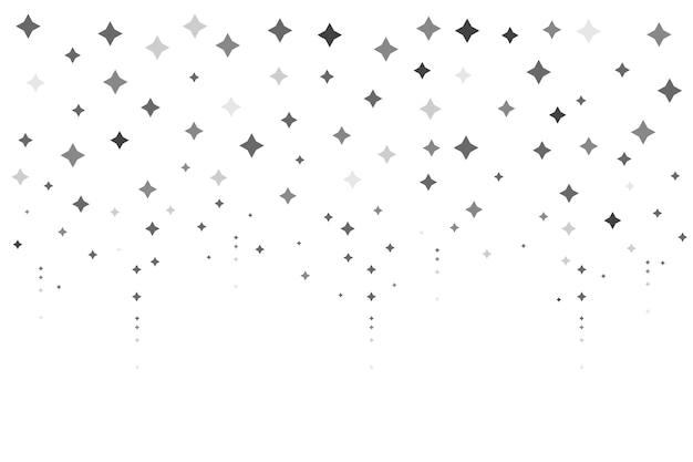 Sfondo di stelle luminose design piatto Vettore gratuito