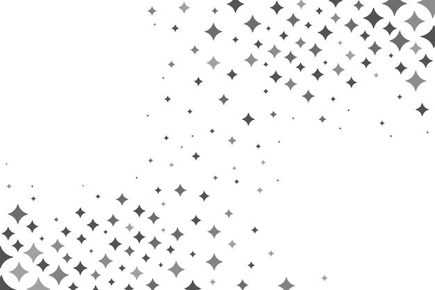 Sfondo di stelle luminose piatte Vettore gratuito