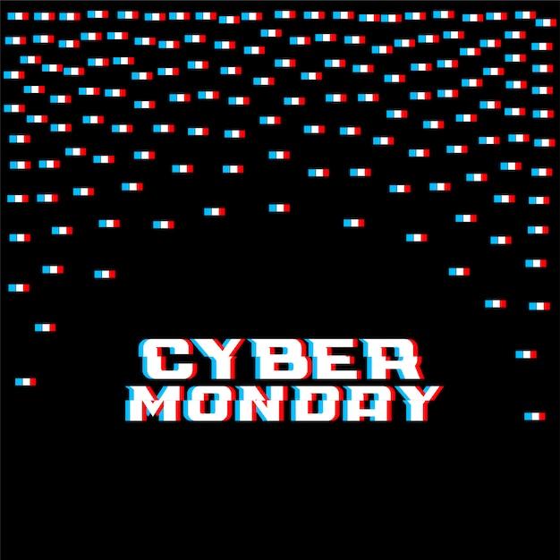Sfondo di stile glitch lunedì cyber Vettore gratuito