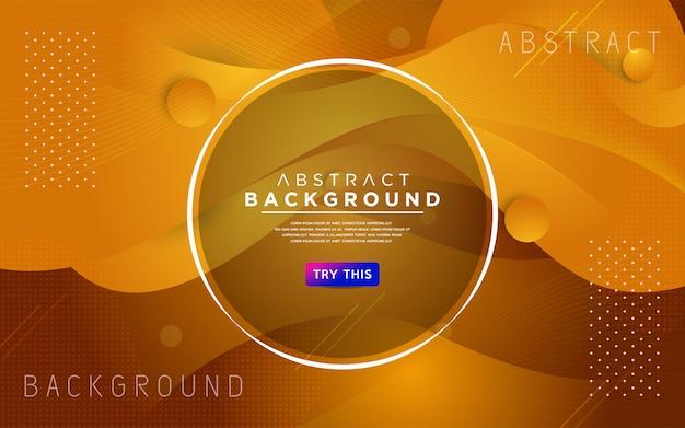 Sfondo di stile strutturato 3d giallo dinamico Vettore Premium