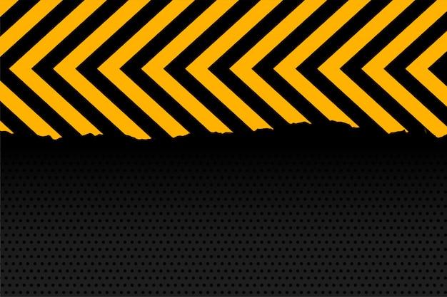 Sfondo di strisce di freccia gialla e nera Vettore gratuito