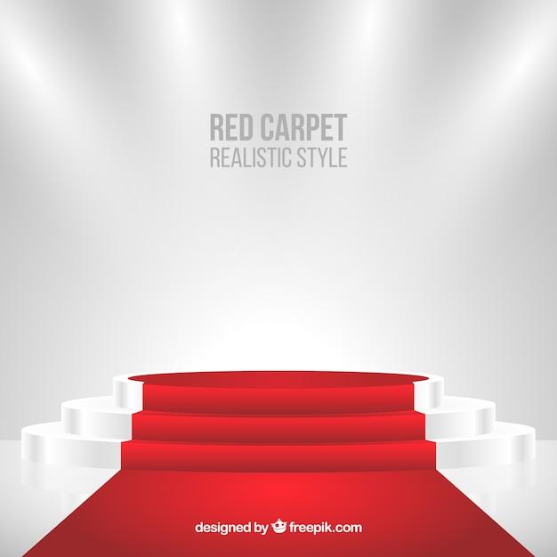 Sfondo di tappeto rosso in stile realistico Vettore gratuito