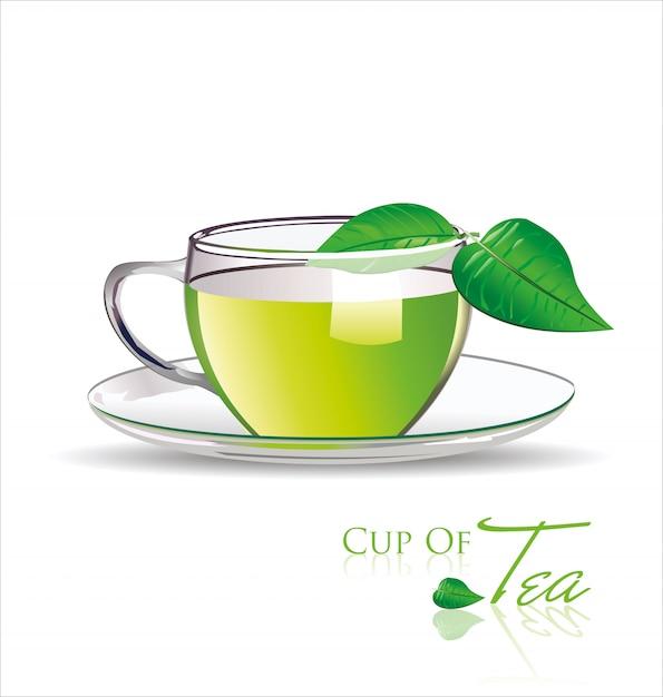 Sfondo di tè Vettore Premium