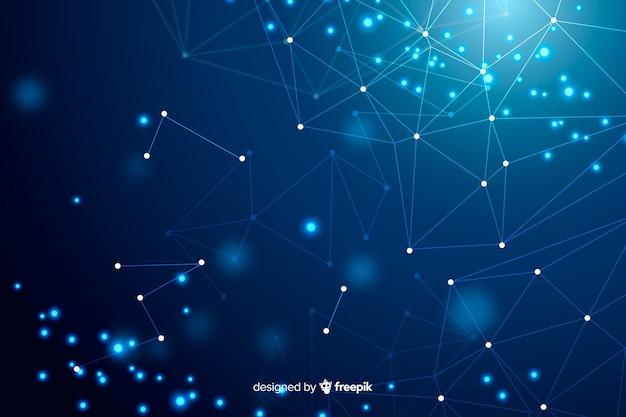 Sfondo di tecnologia con forme astratte blu Vettore gratuito