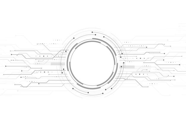 Sfondo di tecnologia moderna Vettore gratuito
