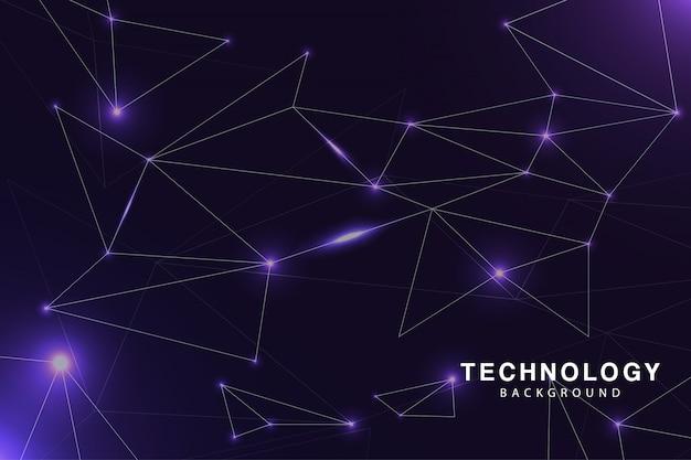 Sfondo di tecnologia viola fantastico Vettore Premium