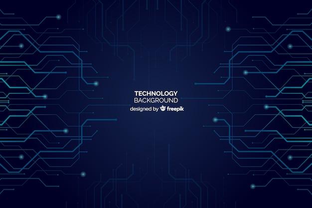 Sfondo di tecnologia Vettore gratuito