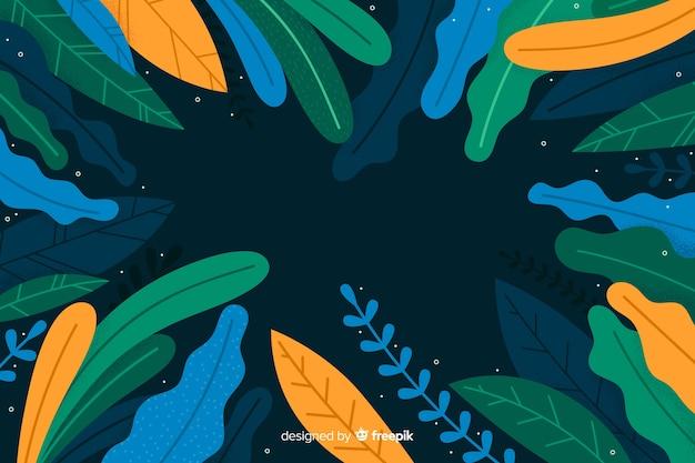 Sfondo di vegetazione astratta disegnata a mano Vettore gratuito