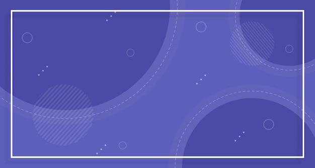 Sfondo di vendita banner blu, con forme astratte Vettore Premium
