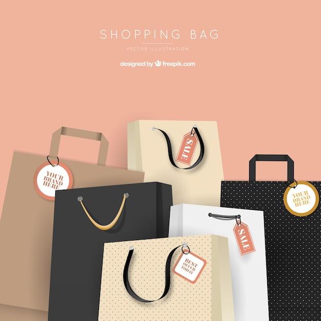 Sfondo di vendita borse alla moda Vettore gratuito