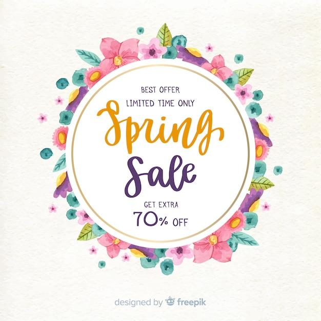 Sfondo di vendita di primavera Vettore gratuito