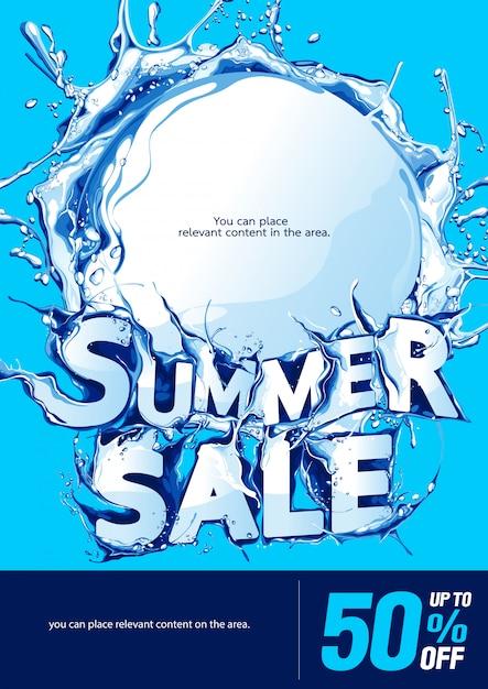 Sfondo di vendita estiva poster verticale Vettore Premium