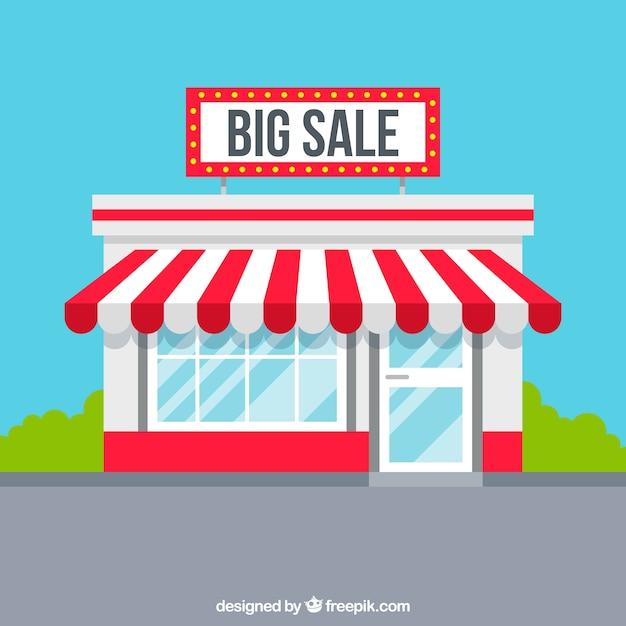 Sfondo di vendita piatta Vettore gratuito