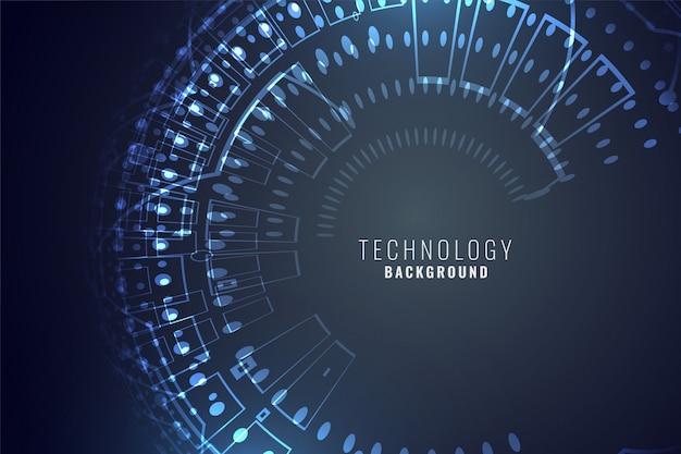 Sfondo digitale di tecnologia Vettore gratuito